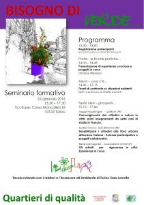 Programma Seminario Bisogno di verde